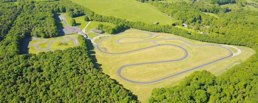 Vue aérienne du circuit de Pont-l'Evêque